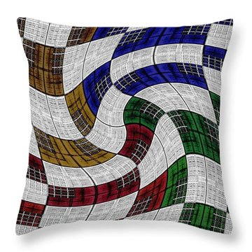 Neighborhood News Throw Pillow by Darla Wood