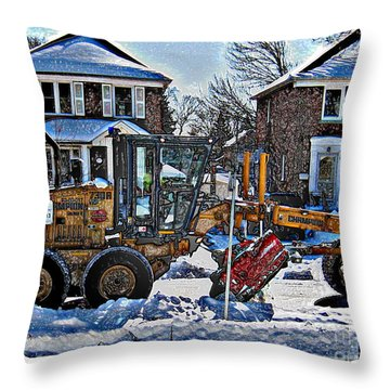 Neighbourhood Snowplough Throw Pillow