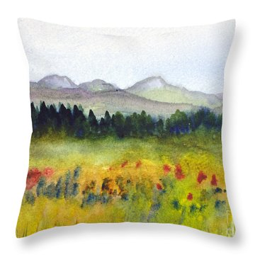 Nek Mountains And Meadows Throw Pillow by Donna Walsh