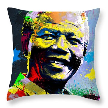Nelson Mandela Madiba Throw Pillow