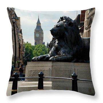 Nelson's Lion Throw Pillow