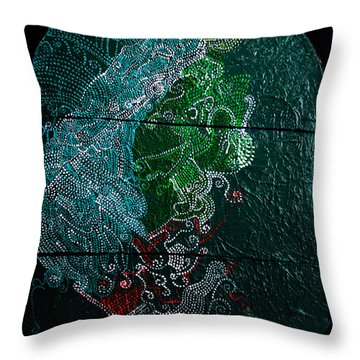 Throw Pillow featuring the painting Nemesis by Gloria Ssali