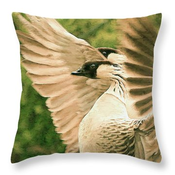 Nene Goose Throw Pillow