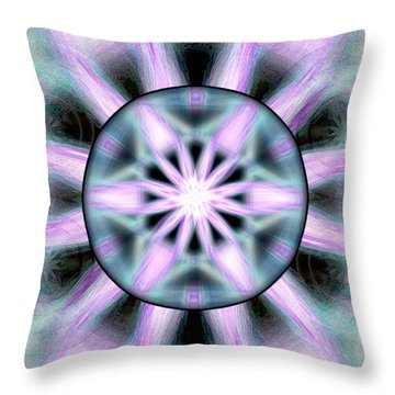 Throw Pillow featuring the drawing Neo Liquid Sky by Derek Gedney