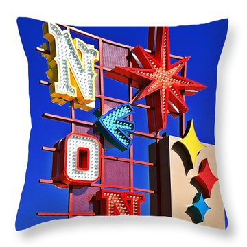 Vegas Neon Boneyard Throw Pillow