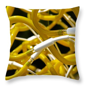 Neon Throw Pillow by Charlie Brock