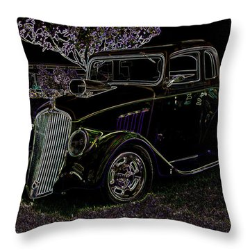 Neon Classic Throw Pillow by Chris Thomas