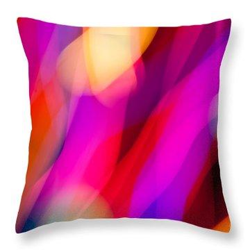 Neon Dance Throw Pillow