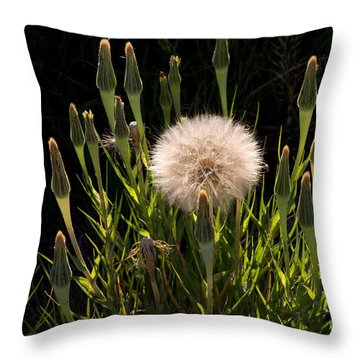 Neon Dandelion Throw Pillow