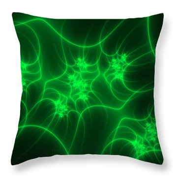 Throw Pillow featuring the digital art Neon Fantasy by Gabiw Art