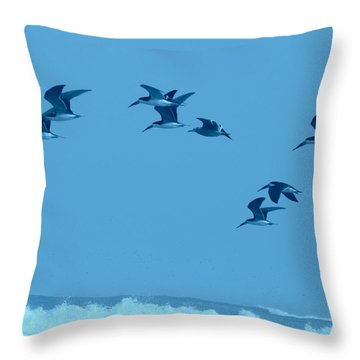 Neon Flight Throw Pillow