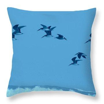 Neon Flight Throw Pillow by Lew Davis