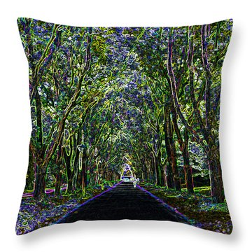 Neon Forest Throw Pillow