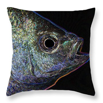 Neon Gill Throw Pillow by John Crothers