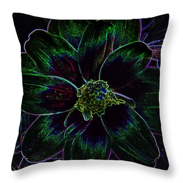 Neon Glow Throw Pillow by Aimee L Maher Photography and Art Visit ALMGallerydotcom