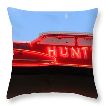 Neon Hunts Throw Pillow