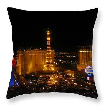 Throw Pillow featuring the photograph Neon Illusion by Angela J Wright