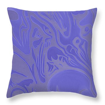 Neon Intensity Throw Pillow