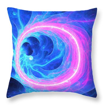 Neon Lights Throw Pillow