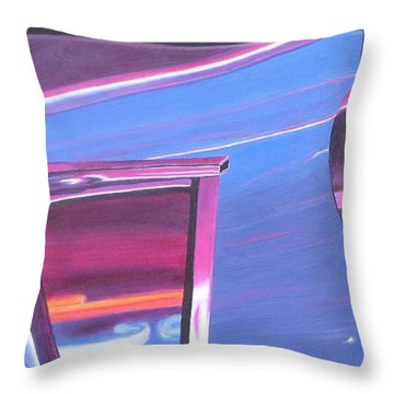 Neon Reflections IIi Throw Pillow by Karin Thue