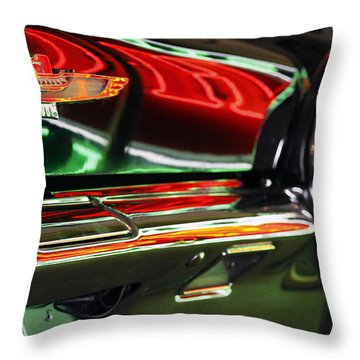 Throw Pillow featuring the photograph Neon Reflections by Shoal Hollingsworth