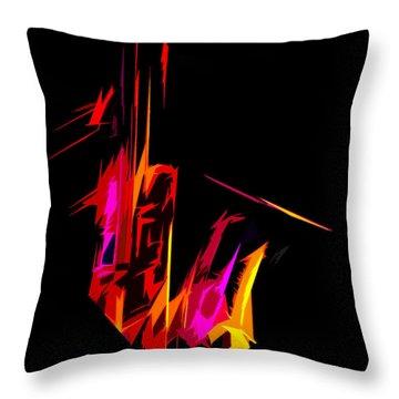 Neon Sax Throw Pillow