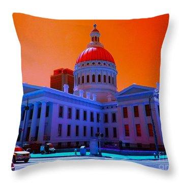Neon Sky Throw Pillow