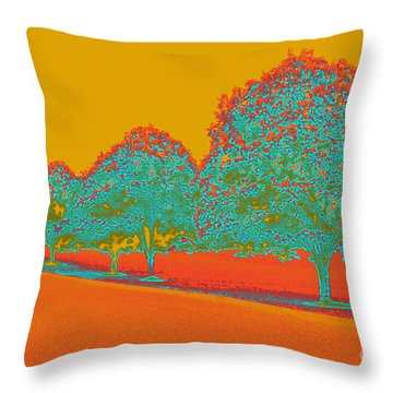 Neon Trees In The Fall Throw Pillow