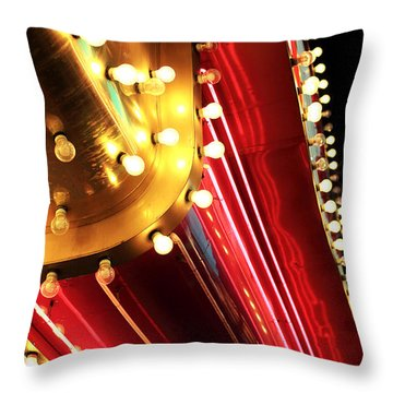 Neon Vegas Throw Pillow by John Rizzuto
