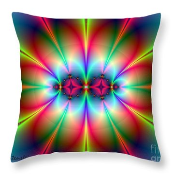 Throw Pillow featuring the digital art Neonisity by Joan Hartenstein