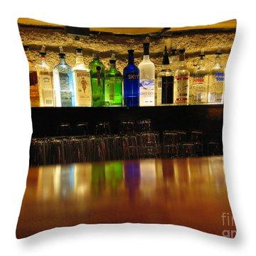 Nepenthe's Bottles Throw Pillow