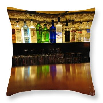 Nepenthe's Bottles Throw Pillow