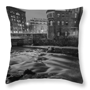 Neponset At Night Throw Pillow