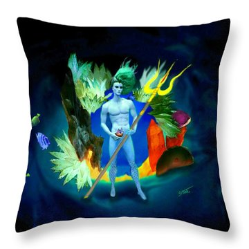 Neptune/poseidon Throw Pillow