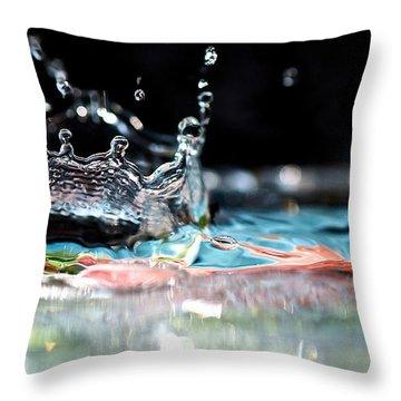 Neptune's Crown Throw Pillow by Lisa Knechtel