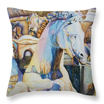 Neptune's Sea Horses - Florence Throw Pillow