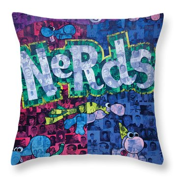 Nerds Throw Pillow