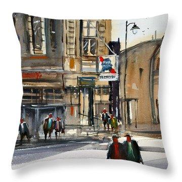 Neshkoro Tavern Throw Pillow by Ryan Radke