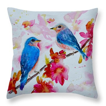 Nesting Pair Throw Pillow
