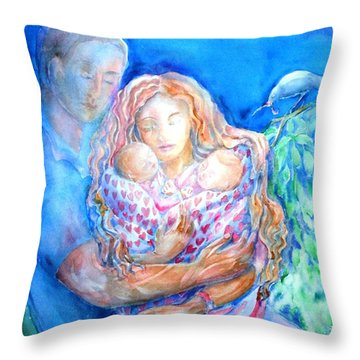 Nesting Pair  Throw Pillow by Trudi Doyle
