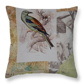 Nesting Throw Pillow by Tamyra Crossley