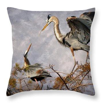 Nesting Time Throw Pillow