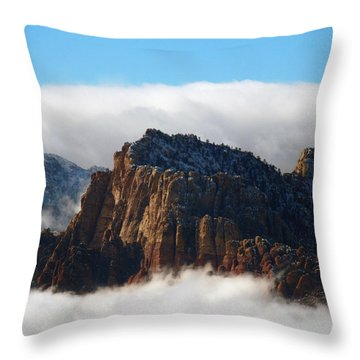 Nestled In The Clouds Throw Pillow