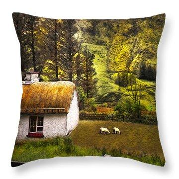 Nestled In The Glen Throw Pillow