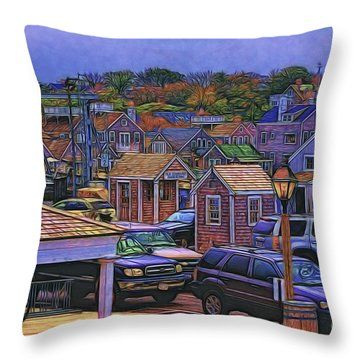 Throw Pillow featuring the photograph Nestling Nantucket by Jack Torcello