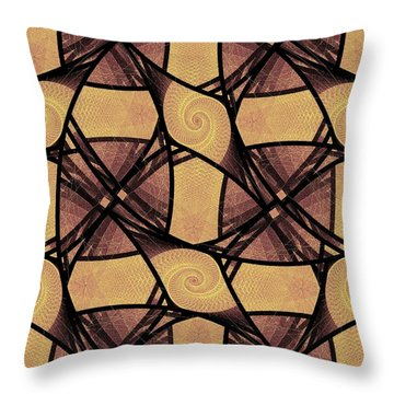 Net Throw Pillow by Anastasiya Malakhova
