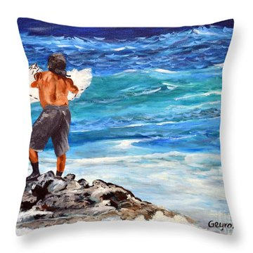 Net Fishing Throw Pillow
