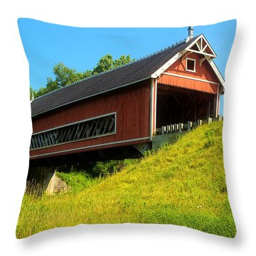 Netcher Road Bridge Throw Pillow