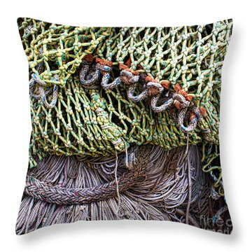 Nets And Knots Number Three Throw Pillow