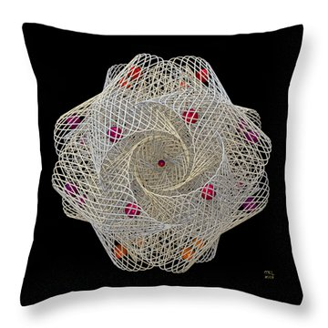 Throw Pillow featuring the digital art Netted by Manny Lorenzo